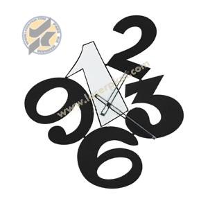 طرح ساعت اعداد