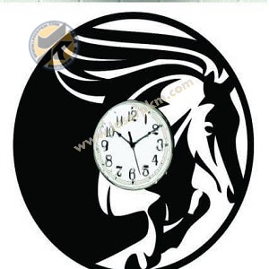 طرح لیزر ساعت اسب